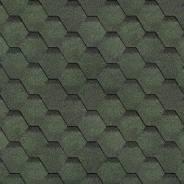 Рядовая черепица Шинглас Финская черепица, Соната, Зелёный, 1000*317 мм, 1/22
