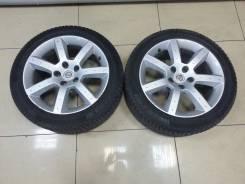Продам разноширокие диски от Nissan 350Z c резиной. 7.5/8.0x17 5x114.30 ET30/33