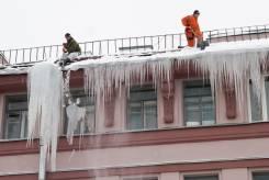 Чистим крыши от снега, сосулек