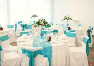 Свадебный прокат: чехлы, банты, скатерти, декор, наборы, цветы.