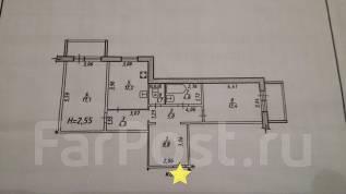 2-комнатная, улица Вахова 7Б. Индустриальный, агентство, 70 кв.м.