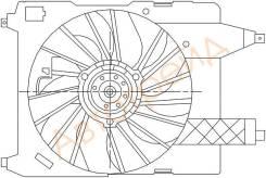 Диффузор радиатора в сборе RENAULT MEGANE II 02-08 SAT ST-RNW2-201-0
