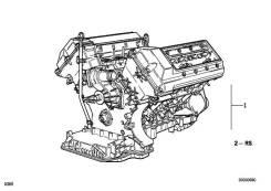 Двигатель в сборе. BMW X5, E53 Двигатель M62B44T. Под заказ