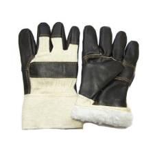 Перчатки Утепленные комбинированные кожаные, ПЕР428