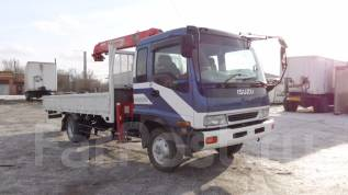 Isuzu Forward. Продам бортовой грузовик с манипулятором , 6 494 куб. см., 5 000 кг.