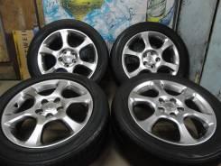 Продам Стильные под Чёр. Хром колёса Toyota Estima+Лето 215/55R17. 6.5x17 5x114.30 ET50