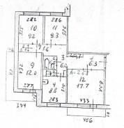 4-комнатная, проспект Строителей 72. 8 мкр, агентство, 76 кв.м.
