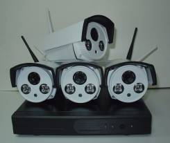 Видеонаблюдение. Набор Wireless 4 IPS (4x1Mp)
