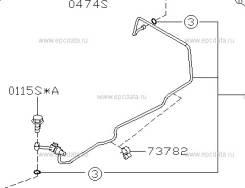 Трубка кондиционера. Subaru Forester, SG5, SG9 Двигатели: EJ202, EJ205, EJ255