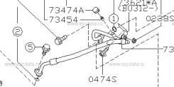Трубка кондиционера. Subaru Forester, SG5, SG9 Двигатели: EJ203, EJ202, EJ205, EJ255