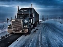 Freightliner Classic. + штора Schmitz, 12 700 куб. см., 40 000 кг.