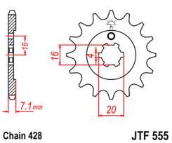 Звезда JT передняя JTF555.13 #428 Y XT225 Serow