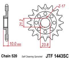 Звезда JT передняя JTF1443.13SC #420 S RMZ 450