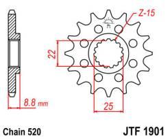 Звезда JT передняя JTF1901.15SC #520 KTM