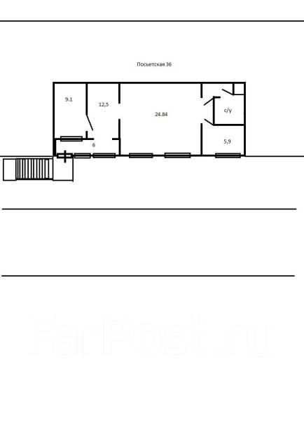 Экслюзивное помещение в центре города на Посьетской. Улица Посьетская 36, р-н Центр, 66кв.м. План помещения
