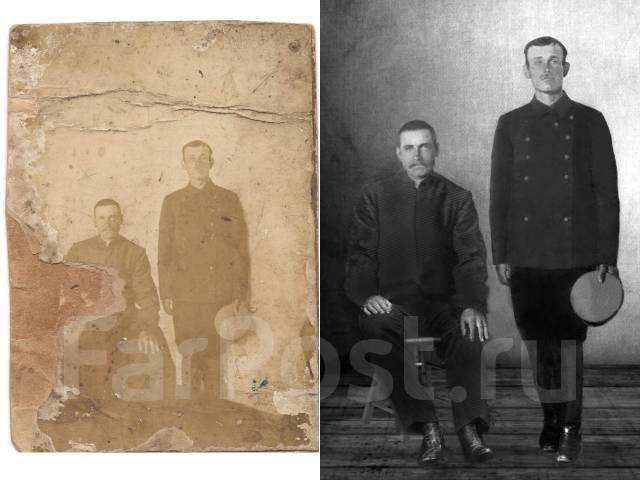 Восстановление фотографии, реставрация фотографии, фотошоп