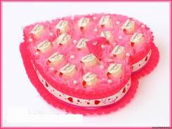 Сладкий подарок на день святого валентина 14 февраля. Под заказ