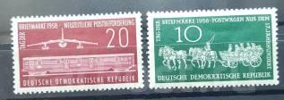 1958 ГДР. День марки. Почтовый транспорт. 2 марки. Чистые