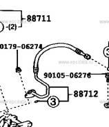 Трубка кондиционера. Toyota Kluger V, MCU20, MCU25 Toyota Kluger, MCU28 Двигатели: 1MZFE, 3MZFE