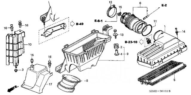 Патрубок. Honda Saber, UA5 Honda Inspire, UA5 Двигатель J32A