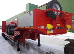 Steelbear. Полуприцеп тяжеловоз низкорамный платформа 11000мм , 45 000 кг.