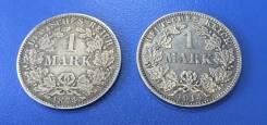 2 монеты 1 Mark 1874 и 1914 ! Серебро ! Низкая Цена !