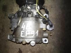 Компрессор кондиционера. Toyota Starlet, EP91 Двигатель 4EFE