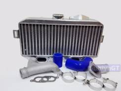 Большой горизонтальный интеркулер на Subaru + Y-pipe. Subaru Forester, SG Subaru Impreza, GD, GG