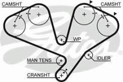 Ремень ГРМ. Mitsubishi: Pajero Evolution, Proudia, Challenger, Triton, Pajero, Debonair, Montero Sport Двигатель 6G74