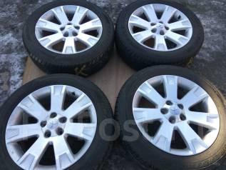 Продам летние шины 225/55R18 на литых дисках Mitsubishi. 7.0x18 5x114.30 ET38