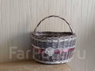 Плетеная корзинка ручной работы
