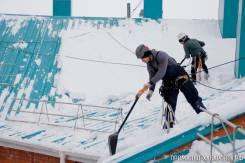 Уборка снега с крыш. Оперативно!