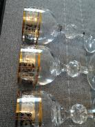 Рюмки ( Богемское стекло , серебрение, позолота ) 3 + 2 бонусом. Оригинал