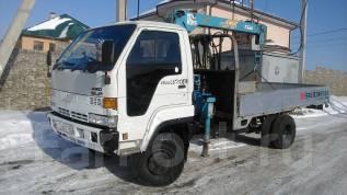 Isuzu Elf. Кран-борт 4WD, 3 600 куб. см., 4 000 кг.