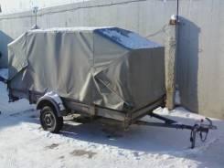 Курганские прицепы Тайга 8213А7. Прицеп к легковому автомобилю КМЗ для снегохода, прицеп к снегоходу, 750 кг.