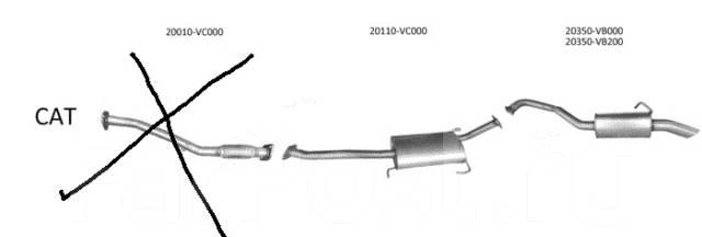 Новый глушитель Nissan Patrol Y61 3,0 TD.2,8TDSafary 97-10