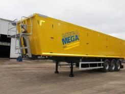 MEGA. Полуприцеп Самосвальный Алюминевый Mega 50м3 2017г, 38 995 кг. Под заказ
