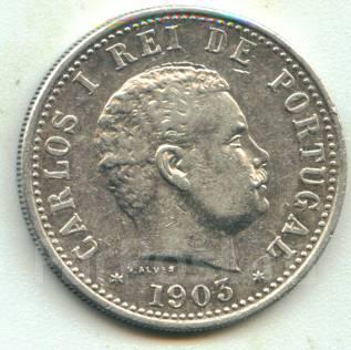 Португальская Индия - Гоа рупия 1903 Карлос I Серебро