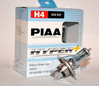 Галогеновые лампы головного света PIAA Hyper PLUS H4. Nissan: Cube Cubic, Cima, Kix, Primera, Terrano II, Tiida, March Box, Otti, Skyline, Lafesta, Mi...