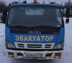 Isuzu NQR. Эвакуатор Isuzu 2008 г, 5 200 куб. см., 3 500 кг.
