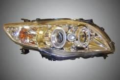 Фары хром линзы диодные тюнинг Toyota Corolla 06-10. Toyota Corolla, 10. Под заказ