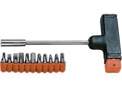 Отвертка с Т-образной ручкой, набор бит, 11 шт.// SPARTA Арт.115655