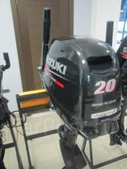 Suzuki. 20,00л.с., 4х тактный, бензин, нога S (381 мм), Год: 2016 год