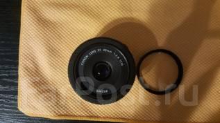 Canon EF 40mm f/2.8 STM( новый)+UV фильтр Sanpak Japan во Владивостоке. Для Canon, диаметр фильтра 52 мм
