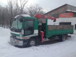 Isuzu Forward. Обменяю отличный грузовик с манипулятором , 7 166 куб. см., 5 000 кг.