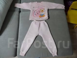 Костюмчик-пижамка тепленький. Рост: 98-104, 104-110 см
