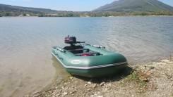 "Kомплект: Лодка ""Лоцман М290ЖС (киль)"" + Мотор"" HDX R series T 5 BMS"". Год: 2016 год, длина 2,90м., двигатель подвесной, 5,00л.с., бензин"