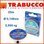 Леска с флюорокарбоновым покрытием зимняя Trabucco T-Force XPS Winter Ice 25m 0,148мм 2,950kg