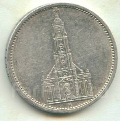 Германия 5 марок 1934 A Кирха Серебро