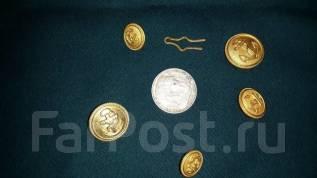 Лот. Набор пуговиц и монета 5 марок 1936 год. Оригинал